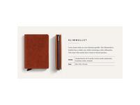 Secrid Kreditkartenetui Slimwallet original cognac-brown