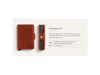 Secrid Kreditkartenetui Twinwallet Original cognac/brown