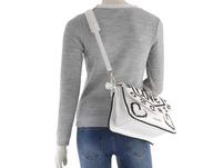 Love Moschino Kurzgriff Tasche JC4218 bianco-nero