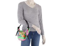 Versace Jeans Couture Kurzgriff Tasche Linea C Dis.3 bunter barock print