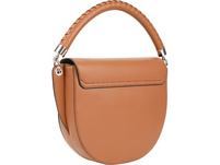 Calvin Klein Kurzgriff Tasche Saddle Bag MD cognac