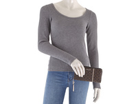 Calvin Klein Langbörse Damen OHJ Z/A Wallet Piping LG brown