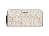 Calvin Klein Langbörse Damen Monogram Z/A Wallet LG white birch