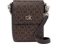 Calvin Klein Umhängetasche Mini Bag Flap Monogram brown mono
