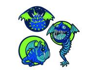 Scout Schulranzen-Set 4tlg. Genius Flying Monsters