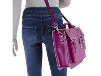 CEEVEE Leather Aktentasche Catchall Business purple