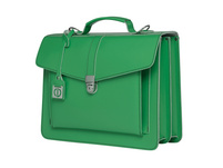 CEEVEE Leather Aktentaschen Catchall III green