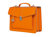 CEEVEE Leather Aktentaschen Catchall III orange