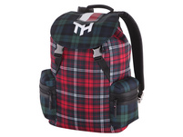 Tommy Hilfiger Rucksack TH Highlight Flap Backpack Check red