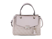 Guess Kurzgriff Tasche Valy Small Girlfriend Satchel stone