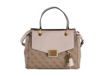 Guess Kurzgriff Tasche Valy Small Girlfriend Satchel latte