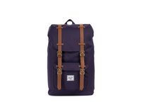 Herschel Rucksack 'Little America' Mid-Volume 17l purple velvet/tan