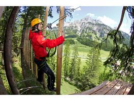 Kletterparcours im Waldseilgarten