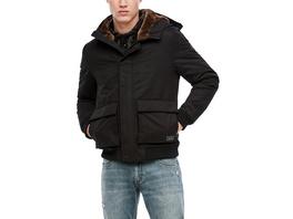 Kapuzenjacke mit Rippbündchen - Jacke
