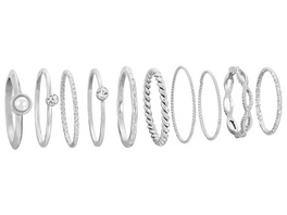 Ring-Set - Silver Vintage Style