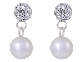 Silber Ohrstecker - Pearls