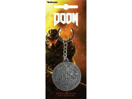 Doom - Schlüsselanhänger Pentagramm