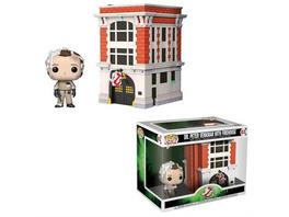Ghostbusters - Pop! Vinyl Figur Dr. Peter Venkman mit Feuerwehrhaus