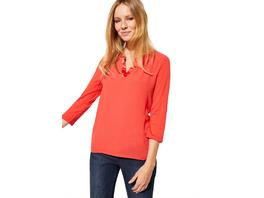 Shirt im raffinierten Materialmix - 3/4-Arm Shirt