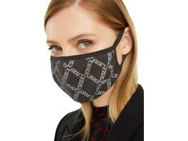 Behelfsmaske mit Printmuster - Mund-Nase-Maske