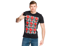 Deadpool - Emotions T-Shirt schwarz