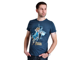 Zelda - Breath of the Wild Link T-Shirt blau