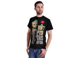 Guardians of the Galaxy - Groot Button T-Shirt schwarz