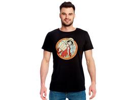 One Piece - Ruffy Map T-Shirt schwarz