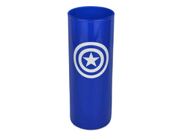 Captain America - Shield Logo Glas blau