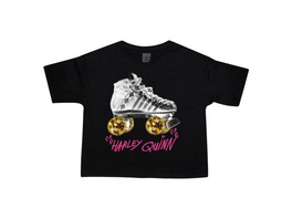Birds of Prey - Harley Roller Skates Crop Top Damen schwarz