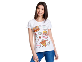 Pusheen - Foodie T-Shirt Damen weiß