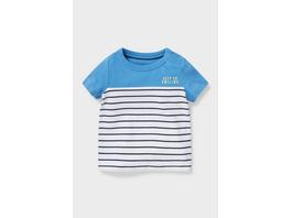 Baby-Kurzarmshirt - Bio-Baumwolle - gestreift