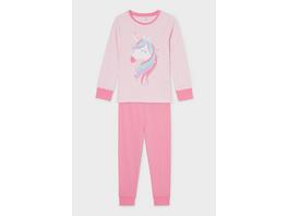 Einhorn - Pyjama - Bio-Baumwolle - 2 teilig