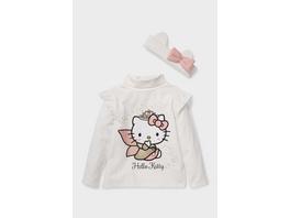 Hello Kitty - Set - Rollkragenshirt und Haarband - 2 teilig