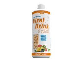 Best Body Nutrition Low Carb Vital Drink 1000ml-Kiwi-Stachelbeere