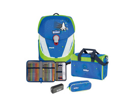 Scout Schulranzen Set 4tlg. Sunny II blue space Safety Light