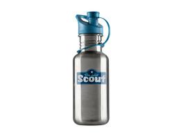 Scout Trinkflasche 0,5l silber-blau