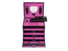 Windrose Schmuckkästchen Merino 3696 schwarz/pink